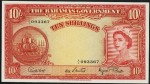 Value of 1953 Ten Shillings Bahamas Government Bank Note