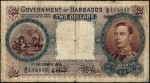 Value of 1939 $2 Bank Note from Barbados