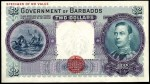 Value of 3rd January 1938 $2 Bank Note from Barbados