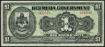 Value of December 2nd 1914 One Pound Bank Note from Bermuda