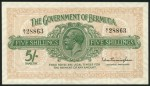 Value of George V Five Shillings Bank Note from Bermuda