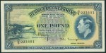 Value of 12th May 1937 One Pound Bank Note from Bermuda