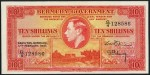 Value of 17th February 1947 Ten Shillings Bank Note from Bermuda