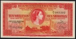 Value of 1st May 1957 Ten Shillings Bank Note from Bermuda