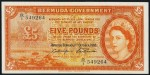 Value of 1st October 1966 Five Pounds Bank Note from Bermuda