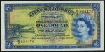 Value of 1st October 1966 One Pound Bank Note from Bermuda