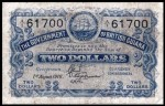 Value of 1st August 1916 Two Dollar Bank Note from British Guiana