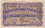 Value of 1st January 1920 Two Dollar Bank Note from British Guiana