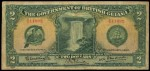 Value of 1st January 1936 Two Dollar Bank Note from British Guiana