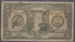 Value of 1st October 1938 Five Dollar Bank Note from British Guiana