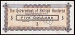 Value of 17th October 1894 Five Dollar Bank Note from British Honduras