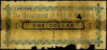 Value of 17th October 1894 One Dollar Bank Note from British Honduras