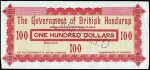 Value of 17th October 1894 One Hundred Dollar Bank Note from British Honduras