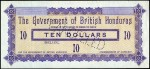 Value of 17th October 1894 Ten Dollar Bank Note from British Honduras