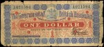 Value of 3rd September 1901 One Dollar Bank Note from British Honduras