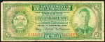 Value of 1st February 1952 One Dollar Bank Note from British Honduras