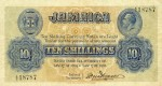 Value of 1904 & 1918 Ten Shillings Bank Note from Jamaica