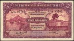 Value of 1st May 1942 Five Dollar Bank Note from Trinidad and Tobago