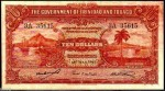 Value of 2nd January 1939 Ten Dollar Bank Note from Trinidad and Tobago