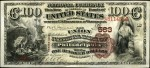Values of $100 1882 Brown Back National Bank Notes