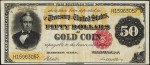 Values of $50 1882 Gold Certificates