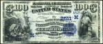 Values of $100 1882 Date Back National Bank Notes