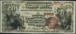 Values of $50 Brown Back National Bank Notes