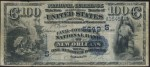 Values of $100 1882 Value Back National Bank Notes