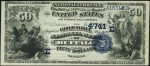 Values of $50 Date Back National Bank Notes