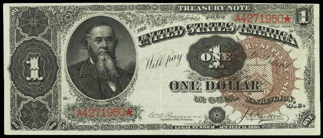 Antique Money Value Of One Dollar 1890 Treasury Notes