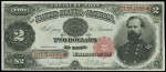 Prices for Two Dollar 1891 Treasury Notes