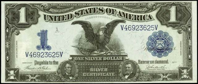 Antique Money – Value of One Dollar 1899 Silver Certificates