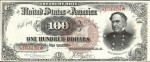 Values of $100 1890 Treasury Notes