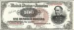 Values of $100 1890 Treasury Notes