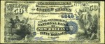 Values of $50 Value Back National Bank Notes