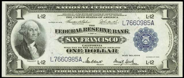 Price Guide For 1918 One Dollar Banknotes