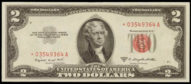 How Much Is A 1953 $2 Bill Worth? | Sell 1953 Currency | Antique Money