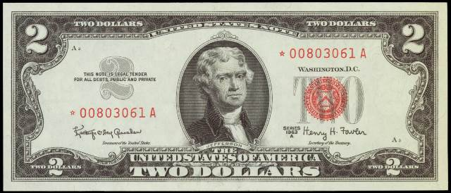 Antique Money Prices For Two Dollar 1963 Legal Tenders