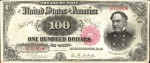 Values of $100 1891 Treasury Notes