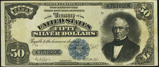 How Much Is An 1891 $50 Silver Certificate Worth? | Sell 1891 ...