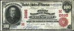 Values of $100 1902 Red Seal National Bank Notes