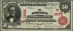 Values of $50 1902 Red Seal National Bank Notes