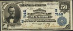 Values of $50 1902 Blue Seal National Bank Notes