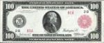 Values of $100 1914 Red Seal Federal Reserve Notes