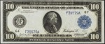 Values of $100 1914 Blue Seal Federal Reserve Notes