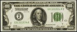 Values of $100 1928 Federal Reserve Notes