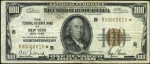 Values of $100 1929 Federal Reserve Bank Notes
