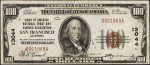 Values of $100 1929 National Bank Notes