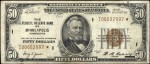 Values of $50 1929 Federal Reserve Bank Notes