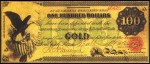 Values of $100 1863 Gold Certificates